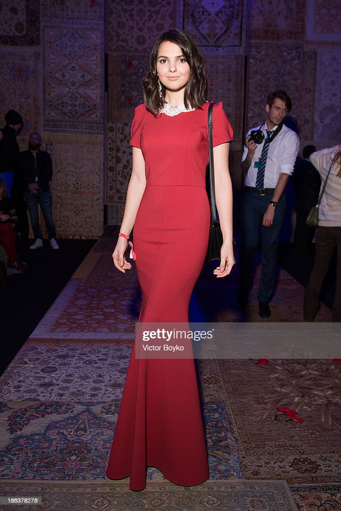 Doina Ciobanu attends the Alena Akhmadullina show on day 6 of Mercedes-Benz Fashion Week S/S 14 on October 30, 2013 in Moscow, Russia.