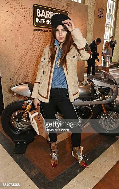 Doina Ciobanu attends the Barbour International presentation during London Fashion Week Men's January 2017 collections at RIBA on January 6 2017 in...