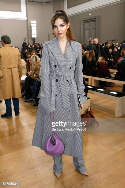 Doina Ciobanu attends the Nina Ricci show as part of the Paris Fashion Week Womenswear Fall/Winter 2017/2018 on March 4 2017 in Paris France