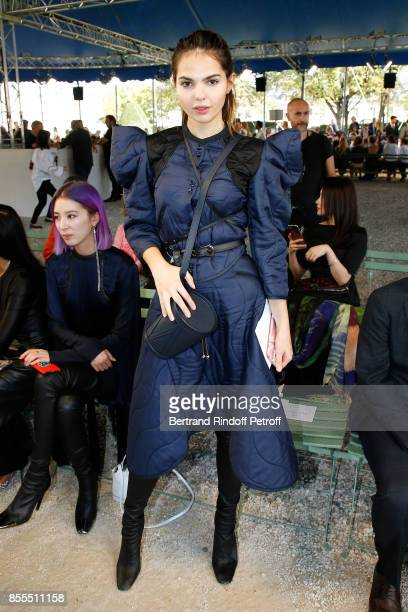 Doina Ciobanu attends the Nina Ricci show as part of the Paris Fashion Week Womenswear Spring/Summer 2018 on September 29 2017 in Paris France