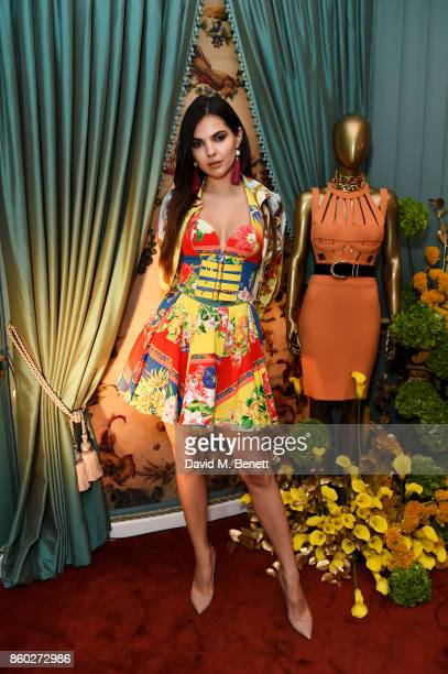 Doina Ciobanu attends the William Vintage x Farfetch Gianni Versace archive launch dinner at The Dorchester on October 11 2017 in London England