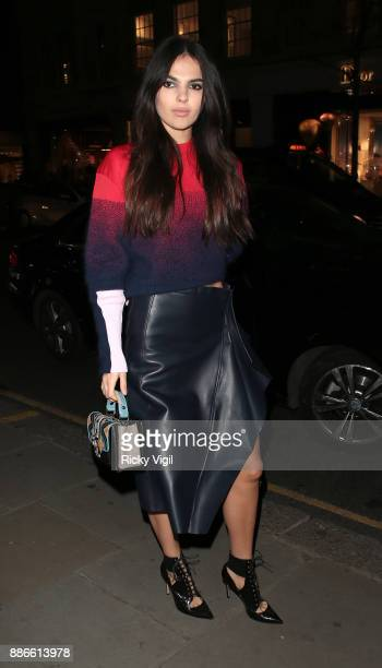 Doina Ciobanu attends Versace boutique opening party on December 5 2017 in London England