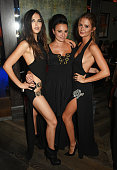 Doina Ciobanu Gizzi Erskine and Millie Mackintosh attend the InStyle EE Rising Star party ahead of the EE BAFTA Awards at 100 Wardour St on February...
