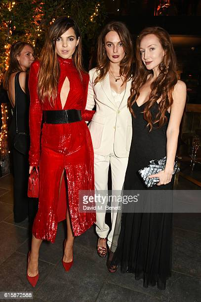 Doina Ciobanu Lady Violet Manners and Olivia Grant attend the Tatler Little Black Book party with Polo Ralph Lauren at Restaurant Ours on October 20...