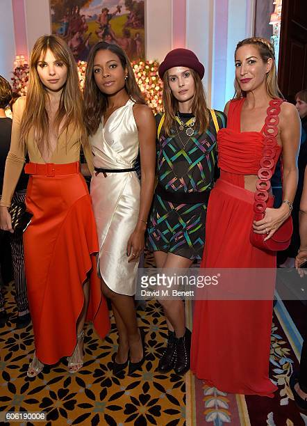 Doina Ciobanu Naomie Harris Charlotte De Carle and Laura Pradelska attend the launch of new luxury womenswear label Maison Makarem during London...