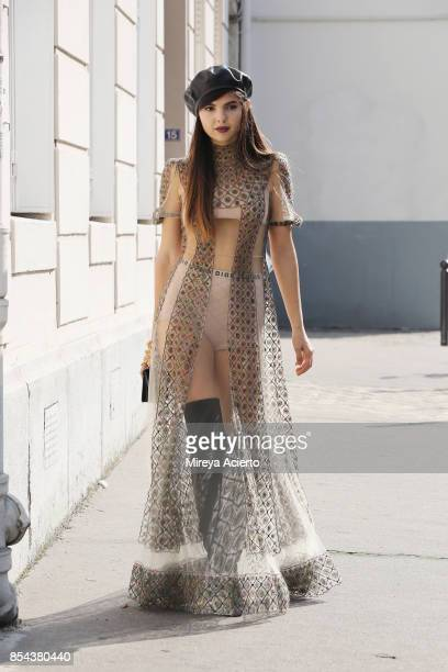 Doina Ciobanu seen during Paris Fashion Week Womenswear Spring/Summer 2018 on September 26 2017 in Paris France