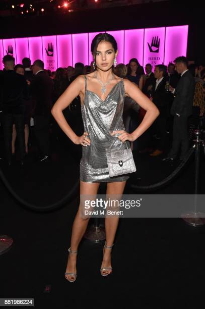 Doina Ciobanu wearing Bulgari attends CLUB LOVE for the Elton John AIDS Foundation in association with BVLGARI on November 29 2017 in London England
