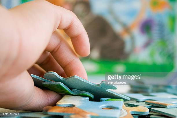 Doing a puzzle