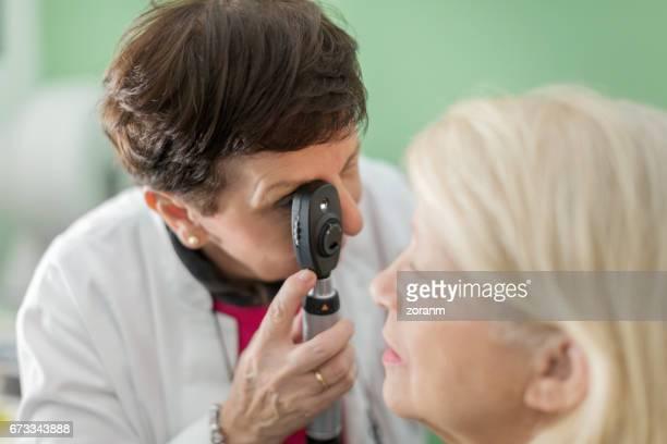 Doing eye test