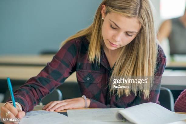 Huiswerk in de klas