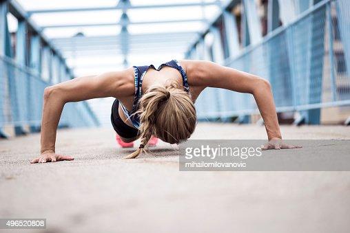 Haciendo flexiones