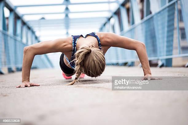 Doing push-ups