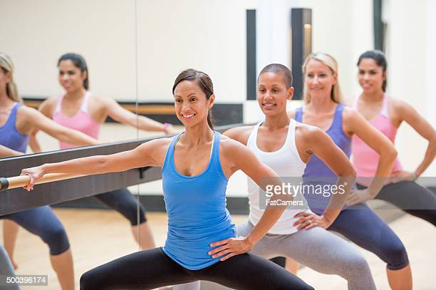 Doing Squats at Barre Class