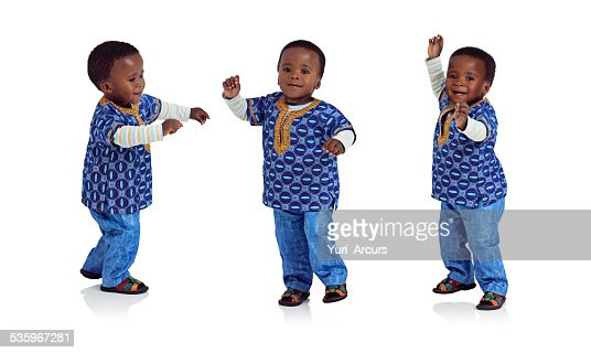 Doing the baby boogy : Stock Photo