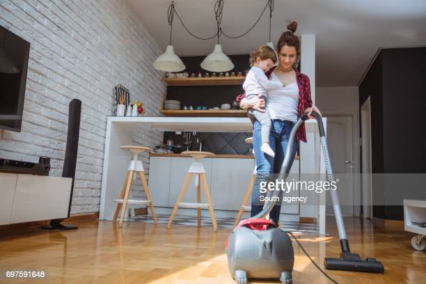 Doing the housework together