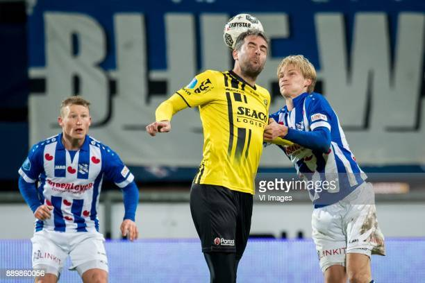 Doke Schmidt of sc Heerenveen Ralf Seuntjens of VVV Morten Thorsby of sc Heerenveen during the Dutch Eredivisie match between sc Heerenveen and VVV...