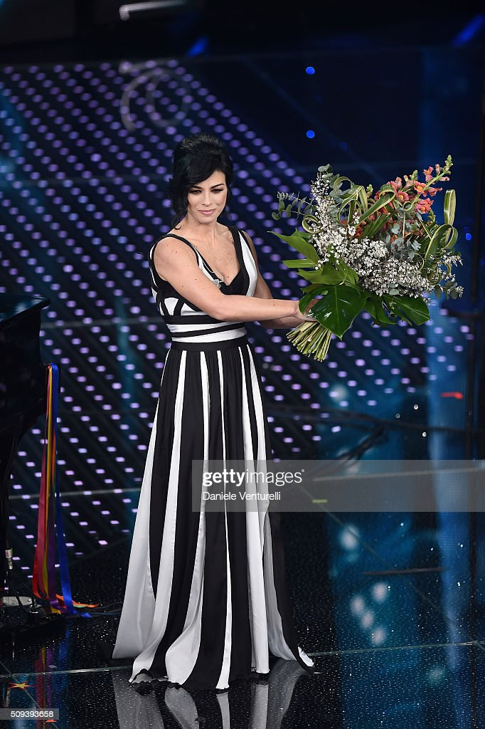 Dolcenera attends second night of the 66th Festival di Sanremo 2016 at Teatro Ariston on February 10, 2016 in Sanremo, Italy.