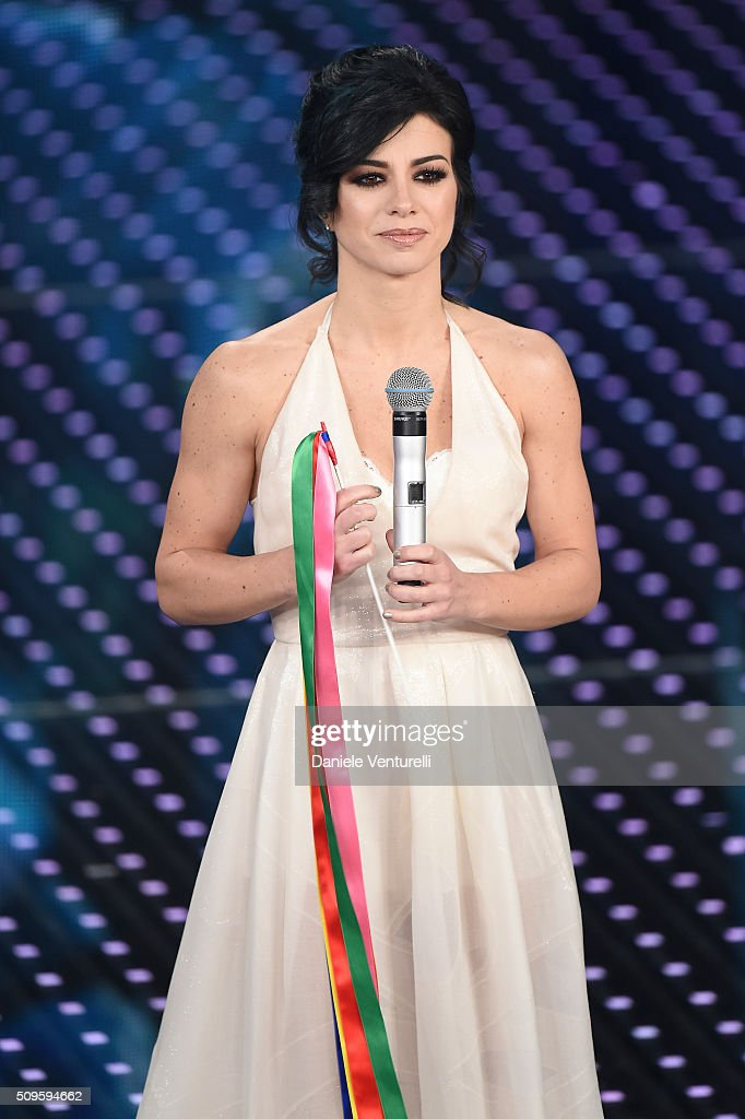 Dolcenera attends the third night of the 66th Festival di Sanremo 2016 at Teatro Ariston on February 11, 2016 in Sanremo, Italy.