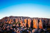 Dolerite rocks in Hobart, Tasmania