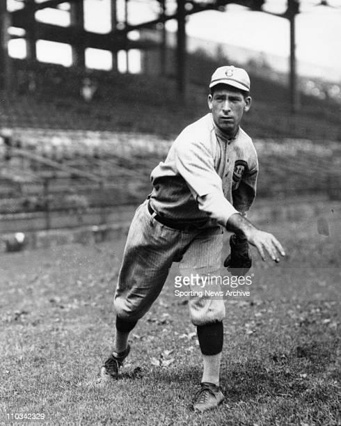 Dolf Luque of Cincinnati Reds warmsup before a game circa 1920's
