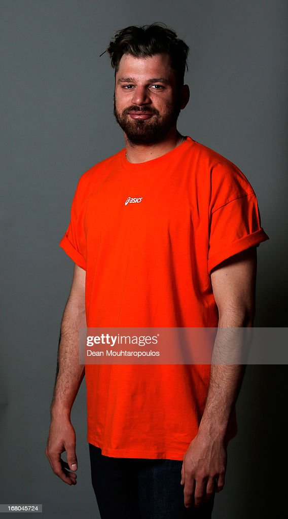 Dolf van der Wal, poses during the NOC*NSF (Nederlands Olympisch Comite * Nederlandse Sport Federatie) Sochi athletes and officials photo shoot for Asics at the Spoorwegmuseum on May 4, 2013 in Utrecht, Netherlands.
