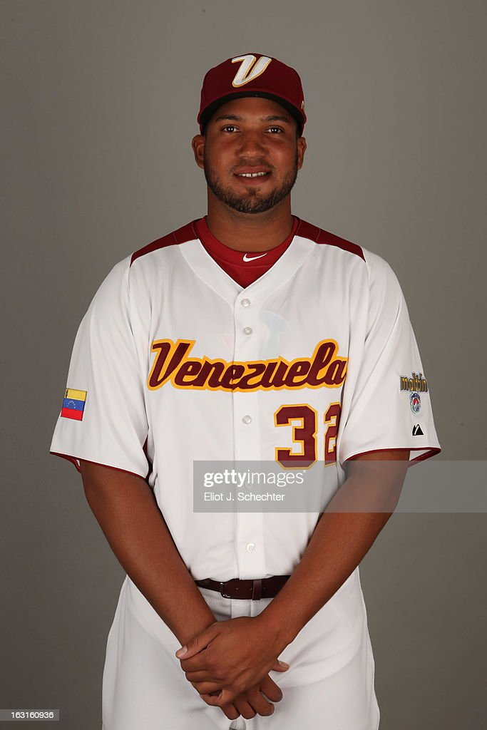 Dolis Guerra #32 of Team Venezuela poses for a headshot for the 2013 World Baseball Classic at Roger Dean Stadium on Monday, March 4, 2013 in Jupiter, Florida.