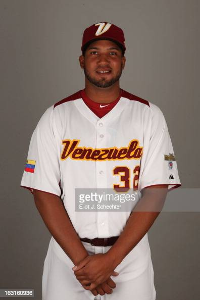 Dolis Guerra of Team Venezuela poses for a headshot for the 2013 World Baseball Classic at Roger Dean Stadium on Monday March 4 2013 in Jupiter...