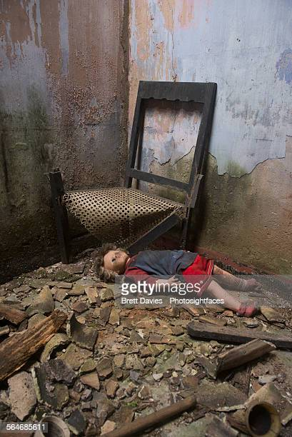 Doll in an abondoned house