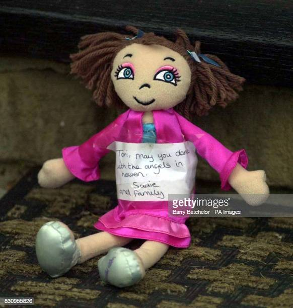 Doll left at the death scene at Broadoak off Goose Lane Horton near Ilminster Somerset Terrified children watched as a mother and her sixyearold...