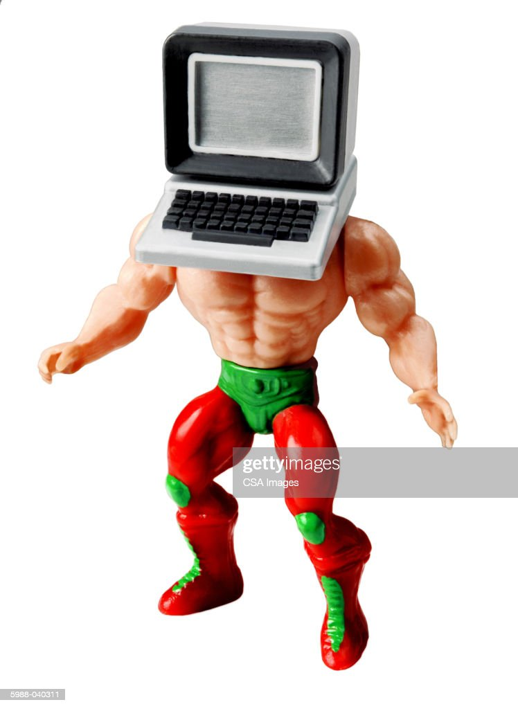 Doll with Computer for Head : Stock Photo