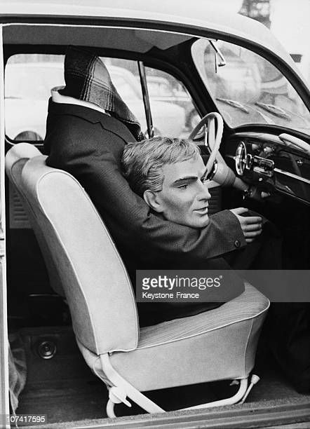 Doll Without Head In Car Shocking Scene At Germany In Europe On 1964