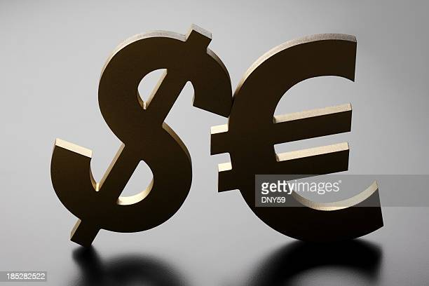 Simboli di dollaro ed Euro