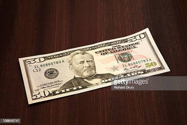 USA 50 dollar bank note