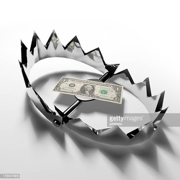 Dollar Bill in a Bear Trap