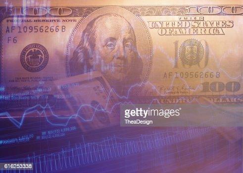 100 $ dollar bills : Foto de stock