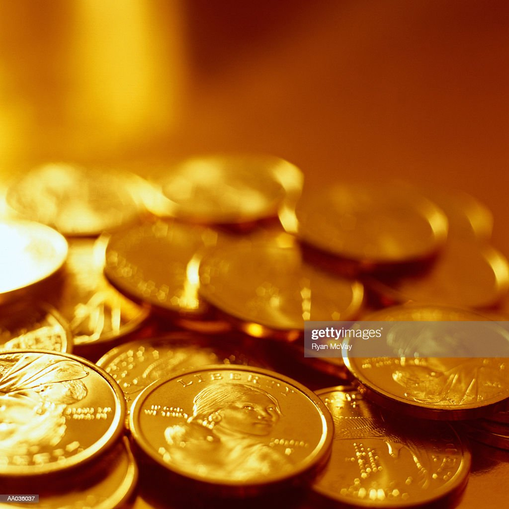 US Dollar Coins : Stock Photo