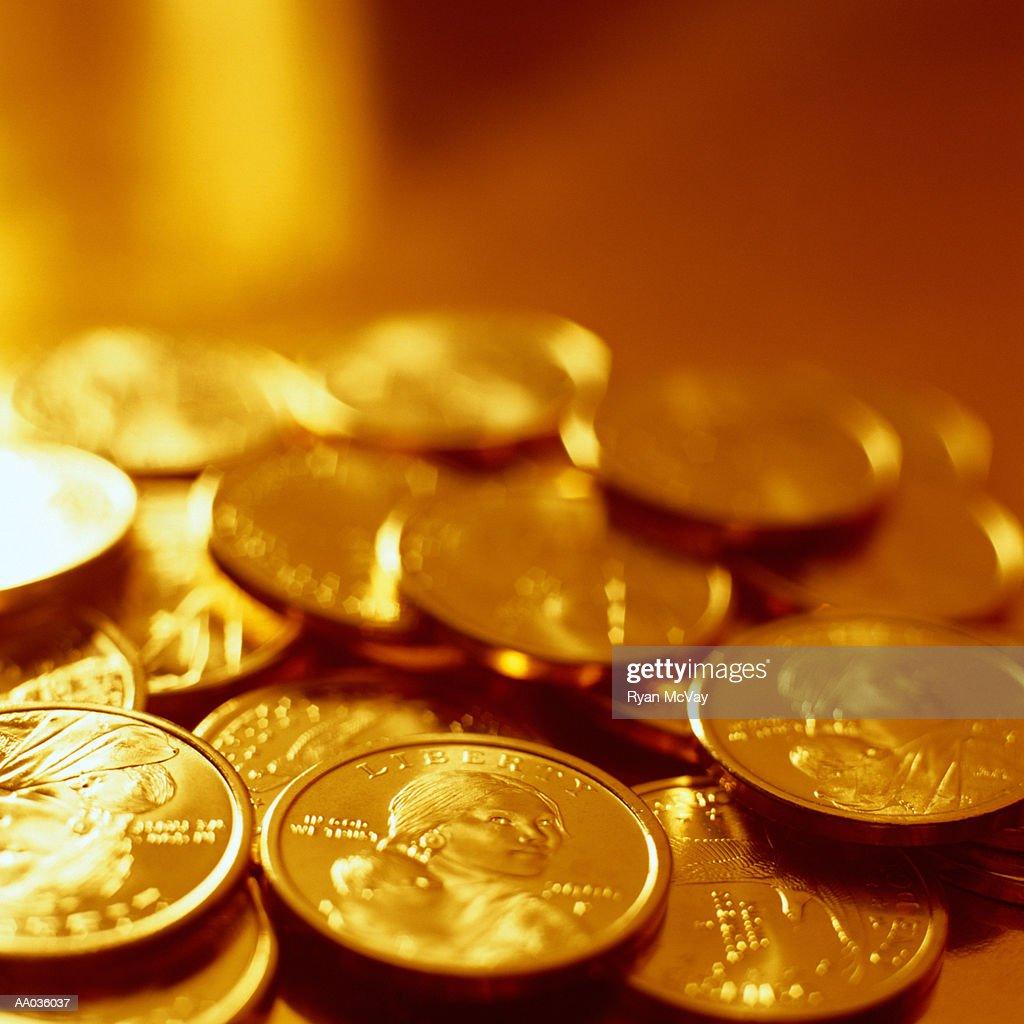 US Dollar Coins : Foto de stock