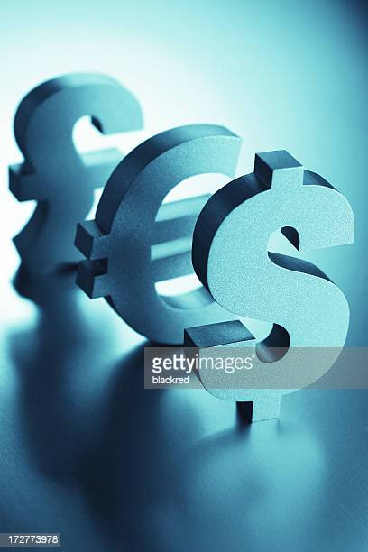 Dollar, Euro and Pound Signs