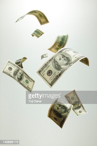 US dollar  in the air : Stockfoto