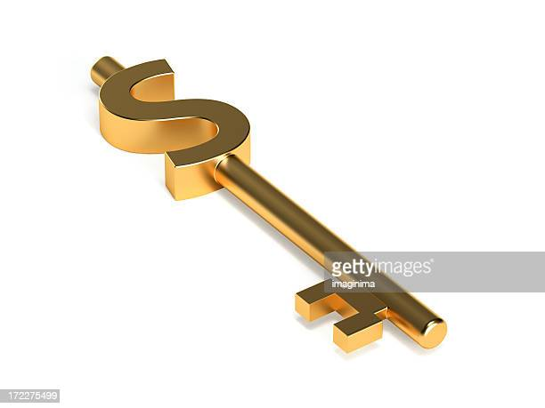 Dollar Shaped Key I (with Clipping Path)
