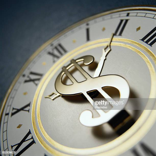 Dollar Sign in Clock, Time is Money