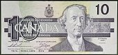 10 dollars banknote obverse John Alexander Macdonald Canada 20th century