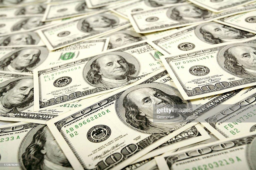 Dollars Flow : Stock Photo