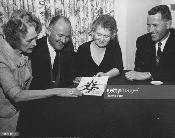 MAR 11 1963 APR 6 1963 'Dollars for Dancing' Goal for Denver Ballet Board Members making plans from left to right are Miss Eleanore Weckbaugh Earl...