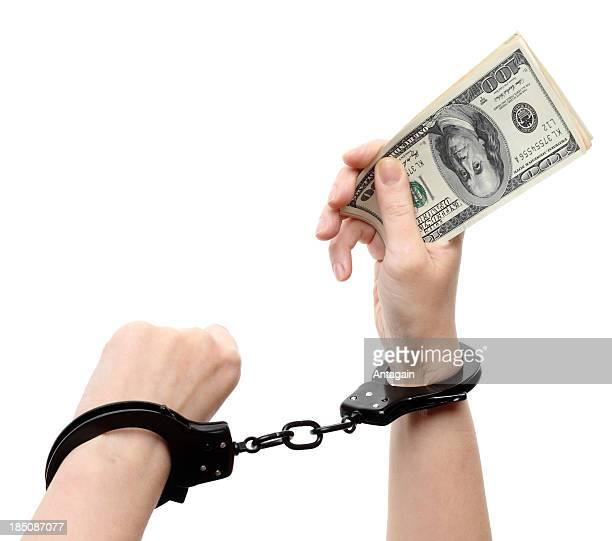 Dollar, Hand, Handschelle