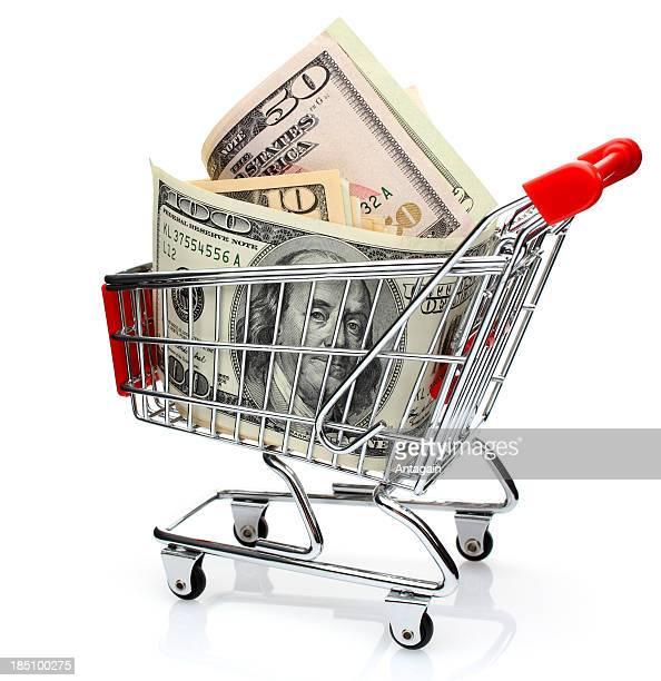 - Dollar im Einkaufswagen