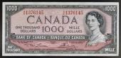 1000 dollars obverse queen Elizabeth II Canada 20th century