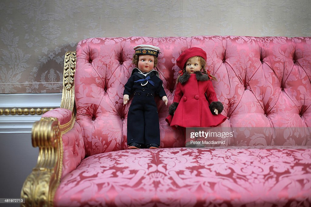 Dolls belonging to Queen Elizabeth II are displayed at Buckingham Palace ahead of the Royal Childhood exhibition on April 2, 2014 in London, England. Spanning more than 250 years the exhibition brings together objects from the Royal Collection, the Royal Archives and the private collections of members of the Royal Family, as well as previously unseen photographs and film footage. Royal Childhood is part the Summer Opening of the State Rooms at Buckingham Palace from July 26, 2014 to September 28, 2014.