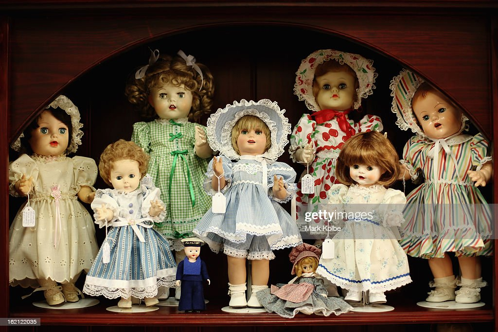 Dolls for sale are seen on display at Sydney's Original Doll Hospital in Bexley on February 19, 2013 in Sydney, Australia. Established in 1913 by Harold Chapman Jnr the Doll hospital is now run by Geoff Chapman, the third generation of Chapmans to run the business and will celebrate 100 years of repairing all types of dolls, teddy bears, rocking horses, umbrellas, prams and various other items.