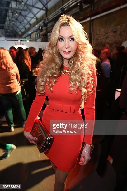 Dolly Buster attends the Thomas Rath show during Platform Fashion January 2016 at Areal Boehler on January 31 2016 in Duesseldorf Germany